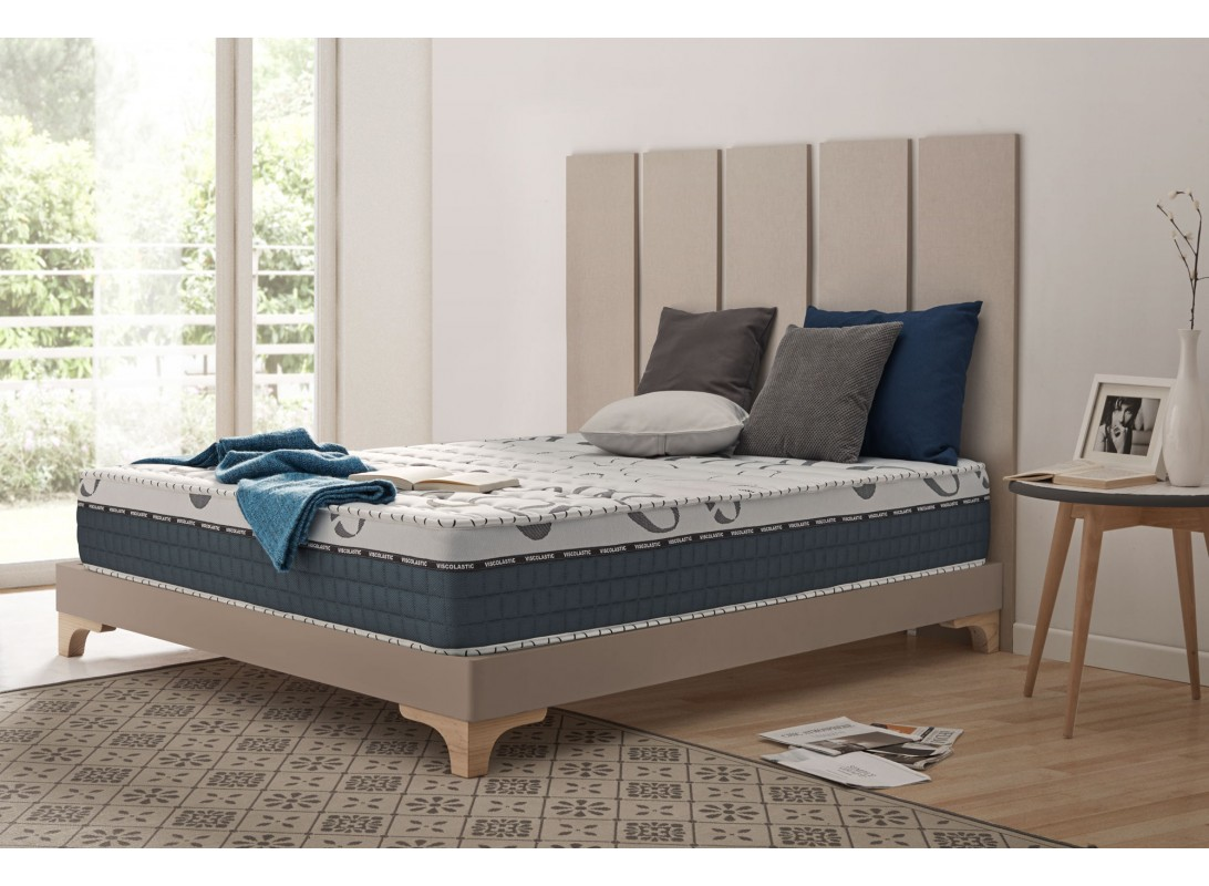 matelas memory king en mousse m moire viscotex aquapur et blue latex. Black Bedroom Furniture Sets. Home Design Ideas