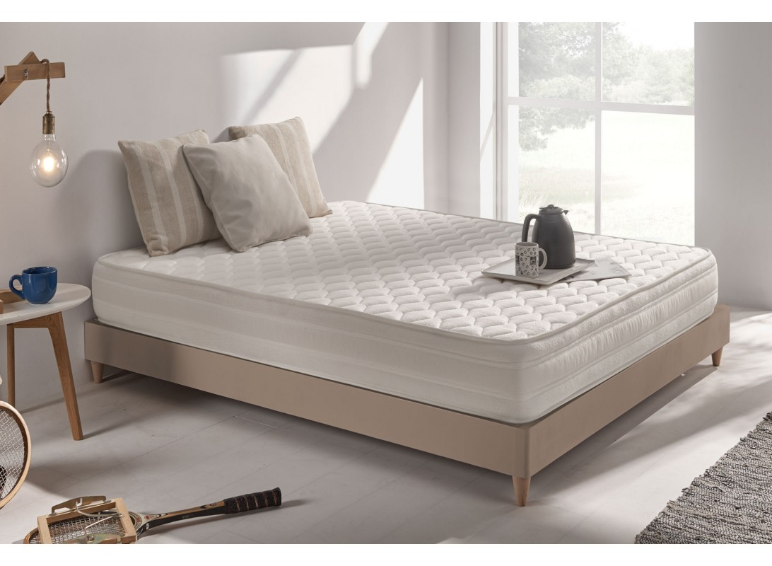 matelas aquasoft en mousse m moire viscotex et blue latex. Black Bedroom Furniture Sets. Home Design Ideas