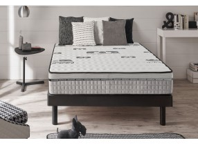 Matelas Top Carbone en mousse à mémoire Viscotex® + coutil fils de carbone