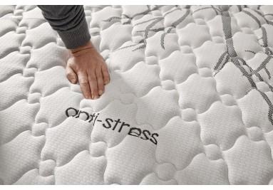 Materasso memory Antistress con fodera in fibra di carbonio